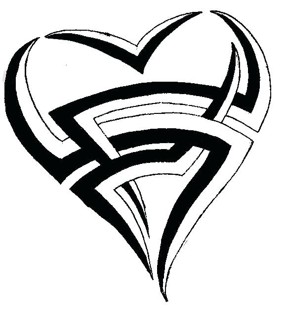 581x626 Easy To Draw Tribal Tribal Heart Drawing Images Pictures How