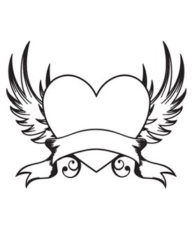 275x355 Heart Wings Clip Art Drawing Ideas And Designs