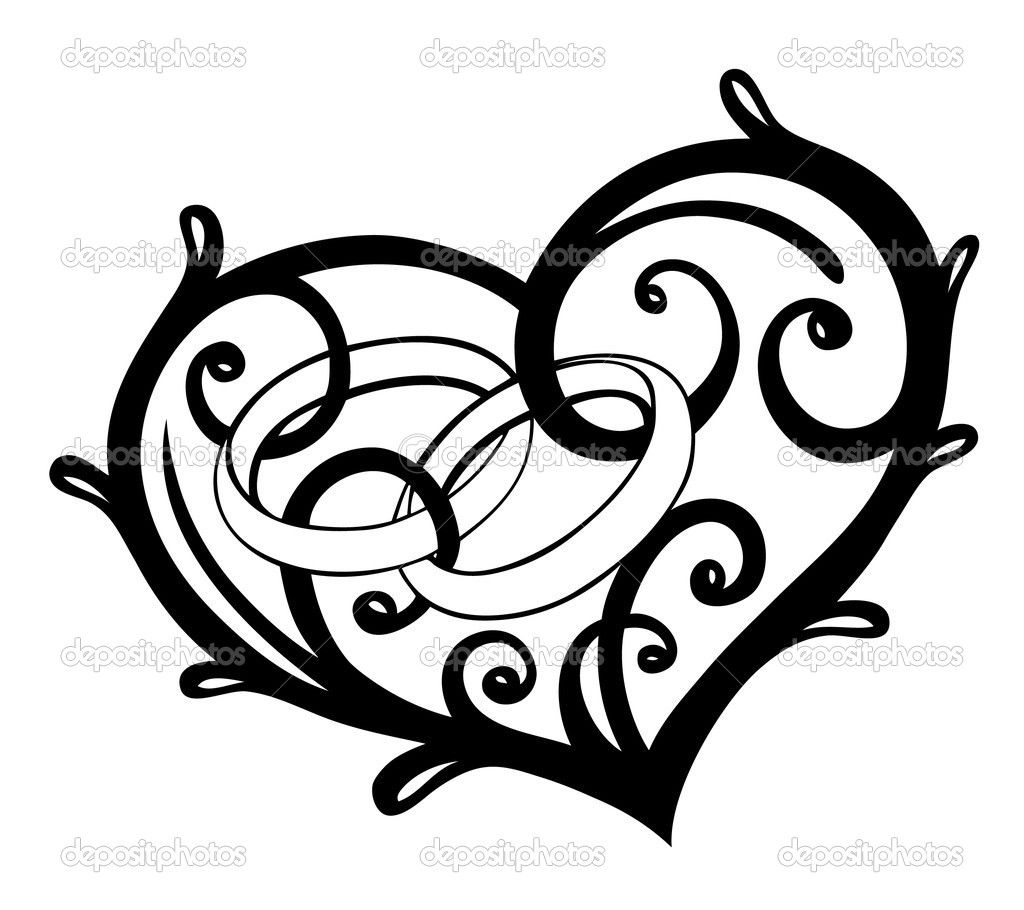 1024x910 How To Draw Filigree Heart Step