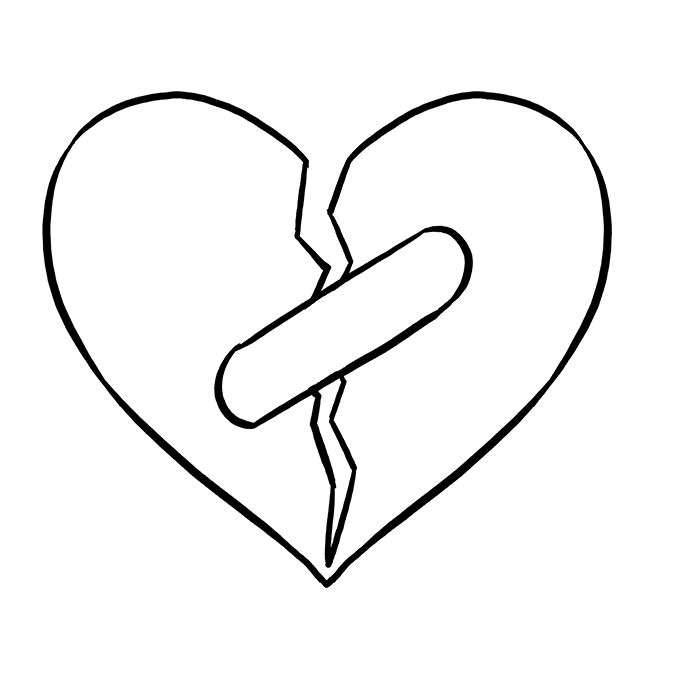 680x678 Arts Drawing Broken Heart Transparent Png Clipart Free Download