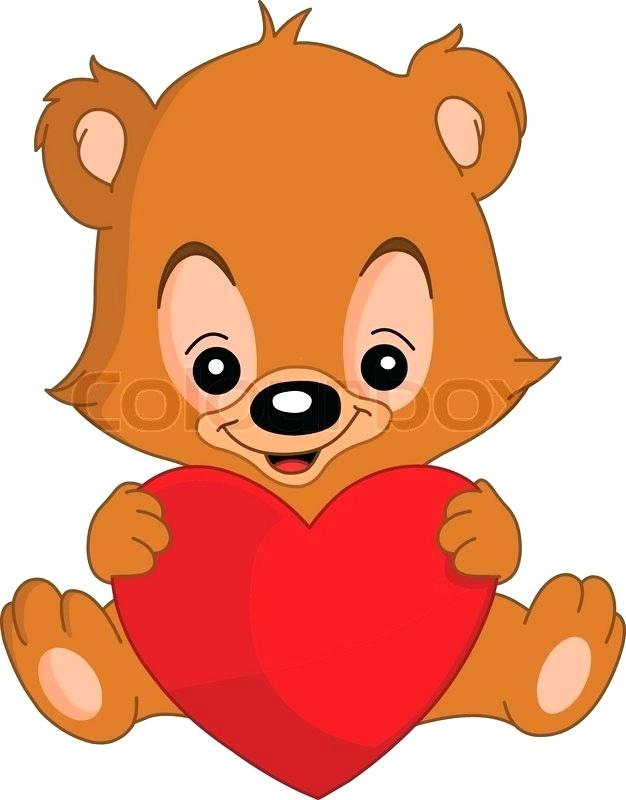 626x800 Drawing Teddy Bears Cute Valentines Teddy Bear Holding A Big Heart
