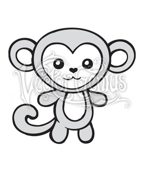 468x580 High Resolution Cute Monkey Heart Cartoon Clip Art Stock Art