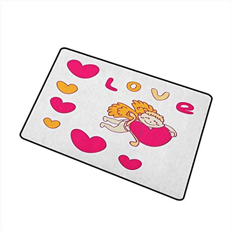 466x466 Sillgt Love Washable Doormat Cartoon Drawing Style