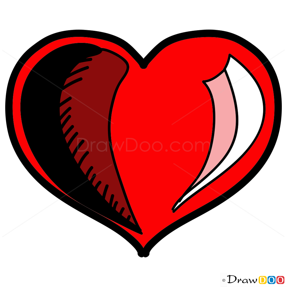 1000x1000 Heart Drawings Png