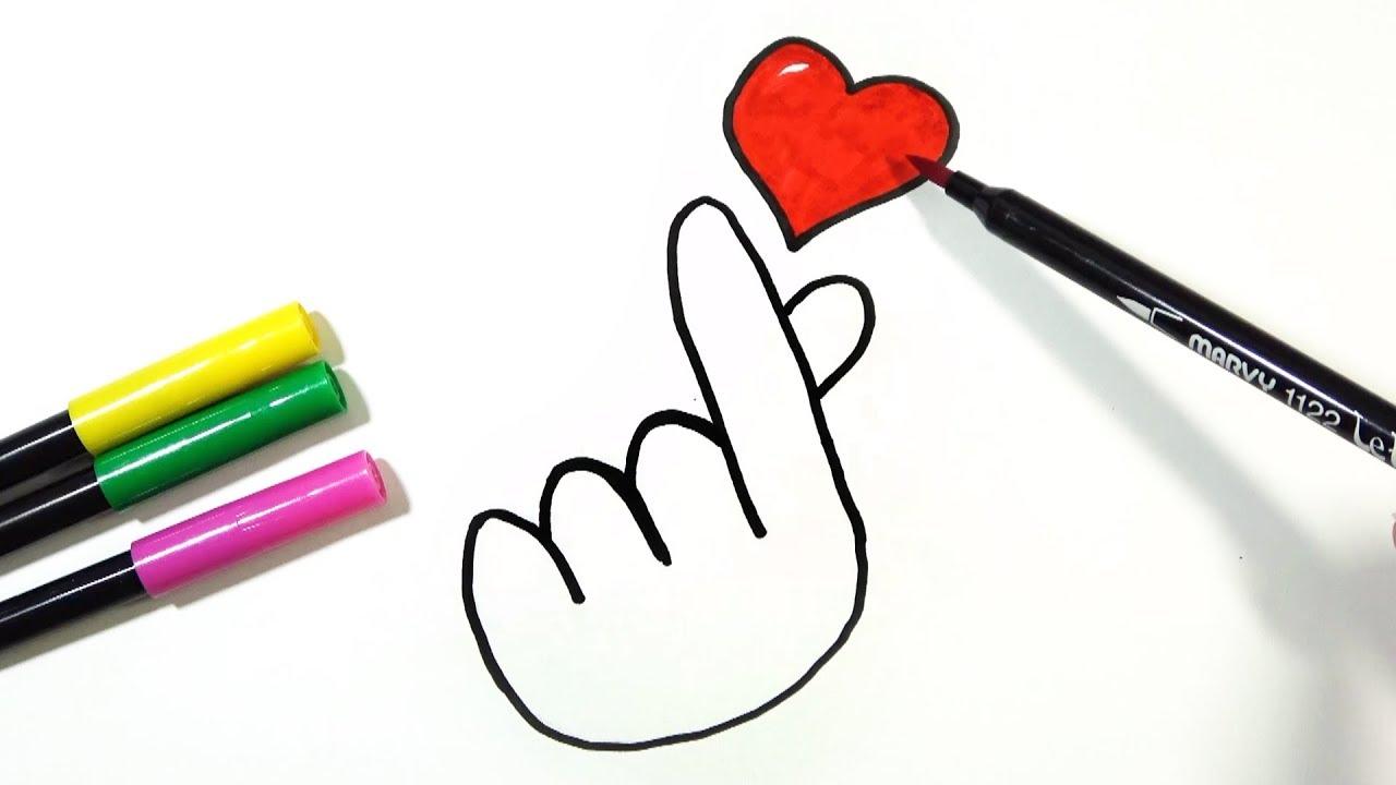1280x720 How To Draw Korean Finger Heart Hde