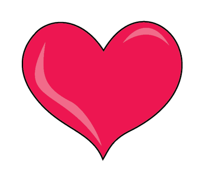 678x600 How To Draw A Heart Step