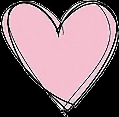 394x388 Tumblr Pink Heart Drawing
