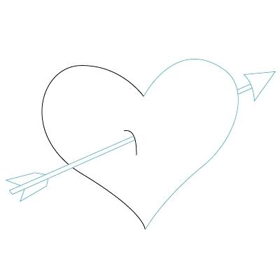 400x400 How To Draw A Heart Step