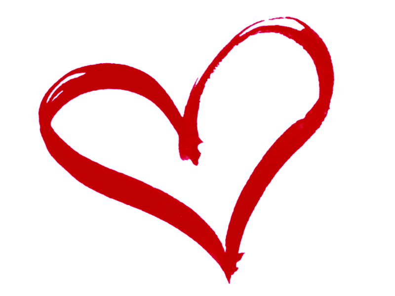 800x600 Heart Outline Drawing Red Transparent Png