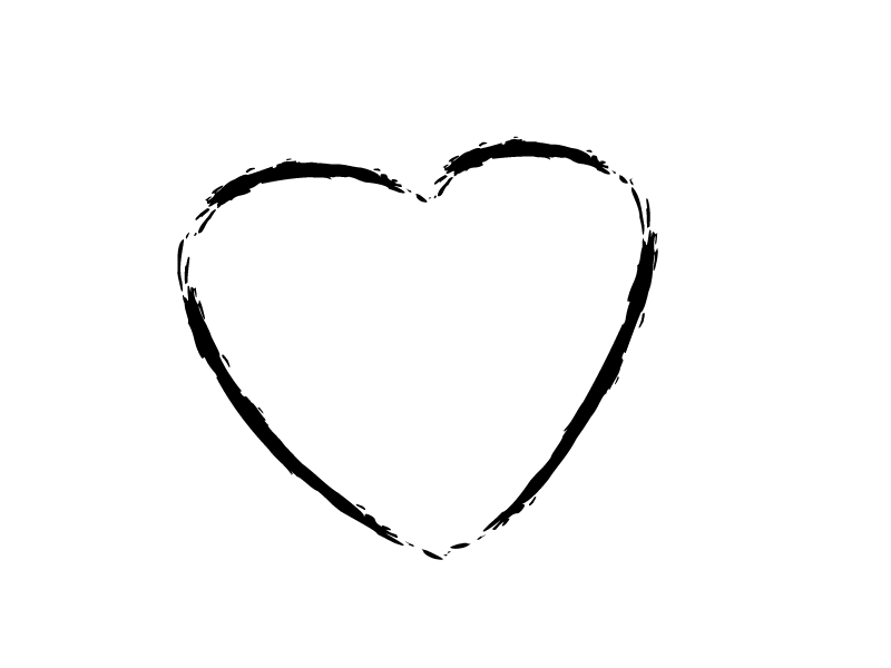 800x600 Heart Outline Sketch Transparent Png