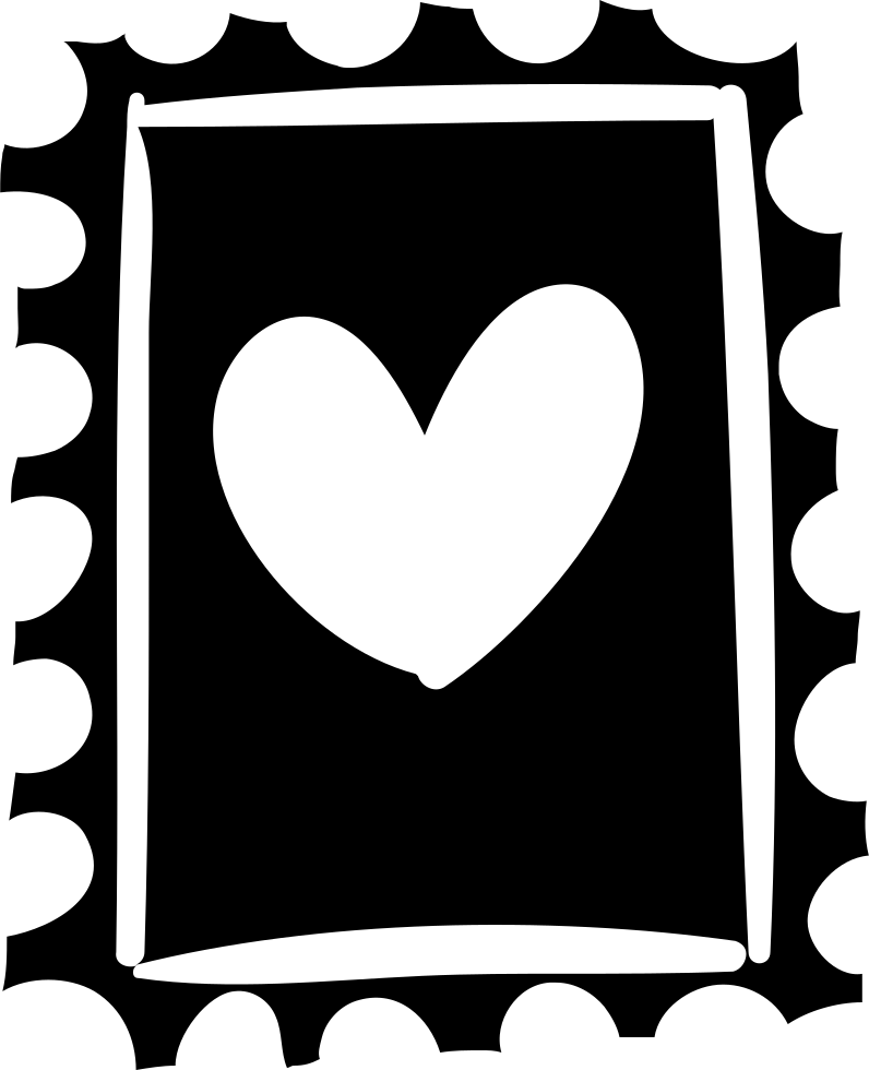 796x980 Stamp With Heart Drawing Png Icon Free Download