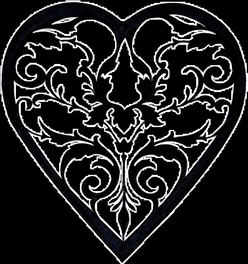 856x912 Download Filigree Heart Drawing At Getdrawings