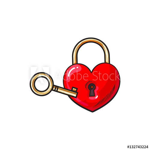 Heart Key Drawing | Free download best Heart Key Drawing on