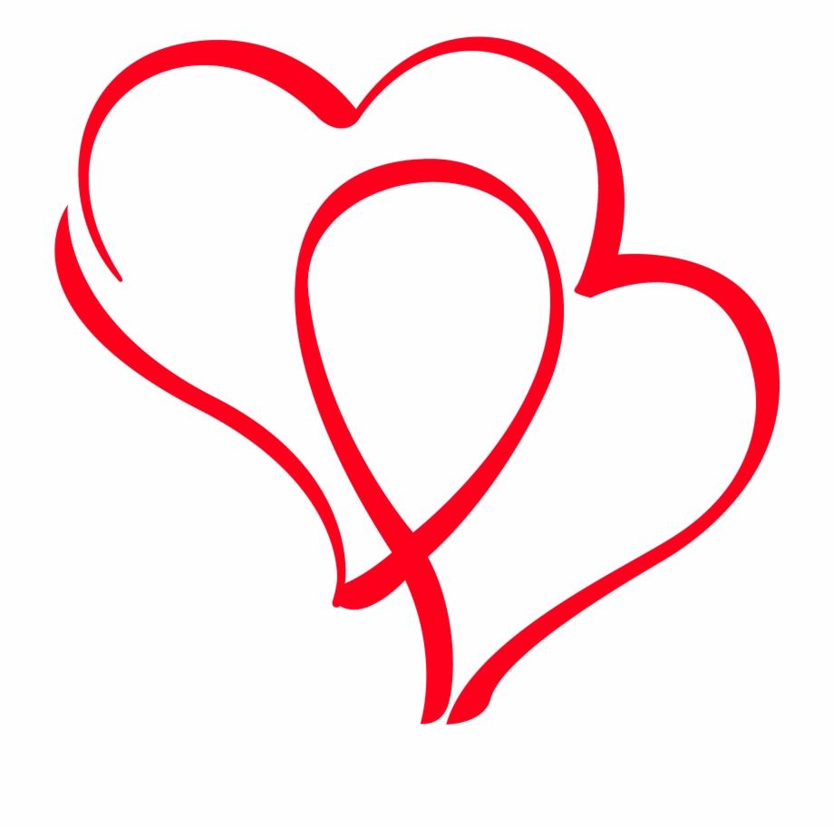 Heart Line Drawing Clip Art