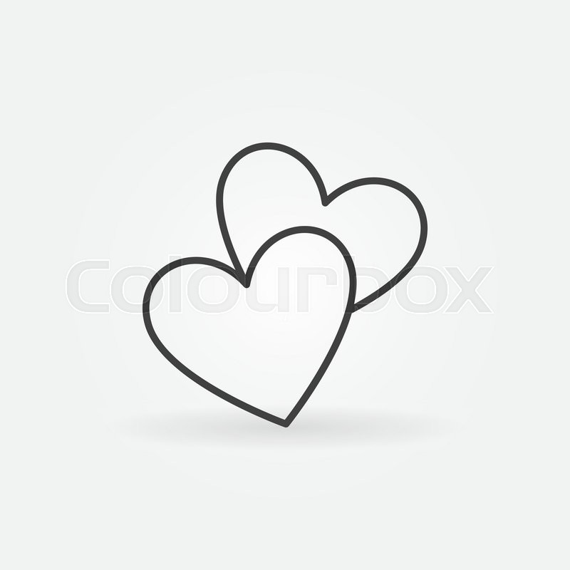 800x800 Two Hearts Line Icon
