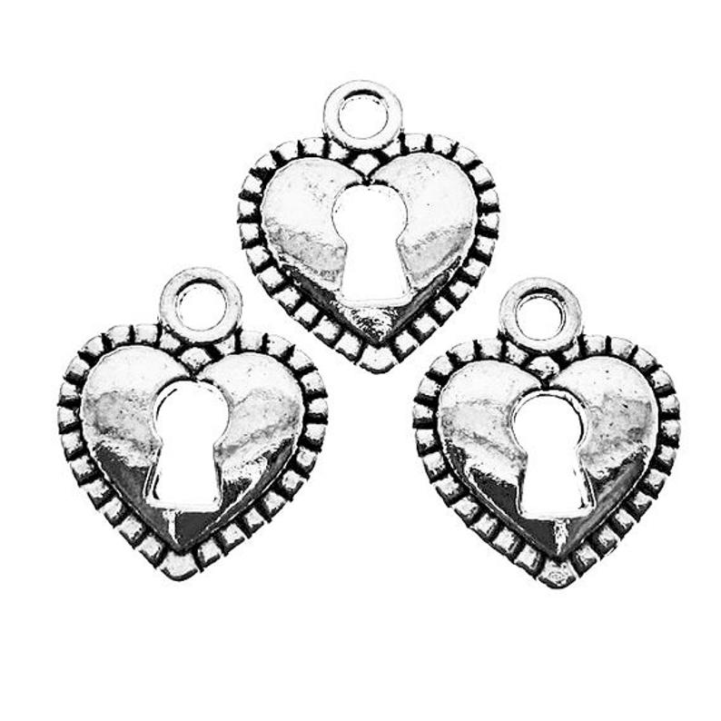 794x794 antique silver heart skeleton key lock charms silver heart etsy
