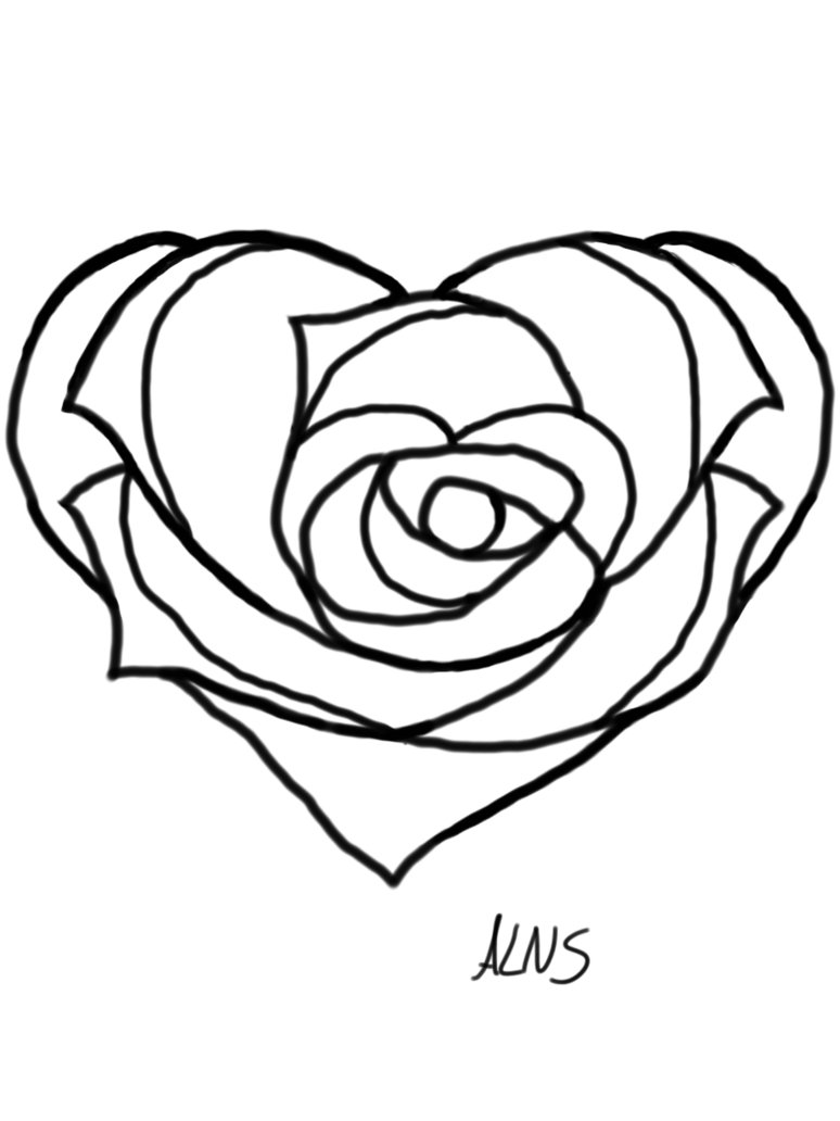 774x1032 Softball Drawing Heart For Free Download