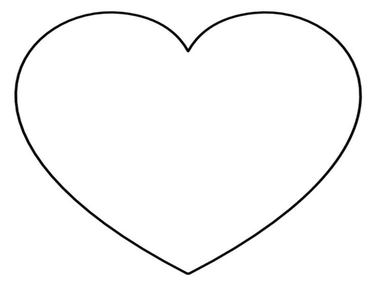 736x560 Drawing Of A Heart Shape Troller Us