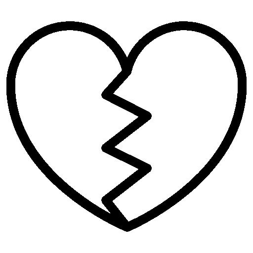 512x512 Broken Drawing Heart Break Huge Freebie! Download