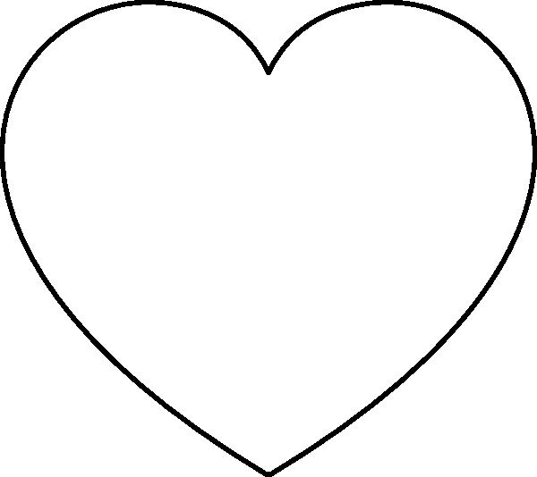 600x534 Heart Outline Clip Art