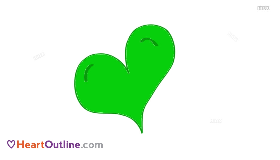 934x534 Heart Outline Drawing