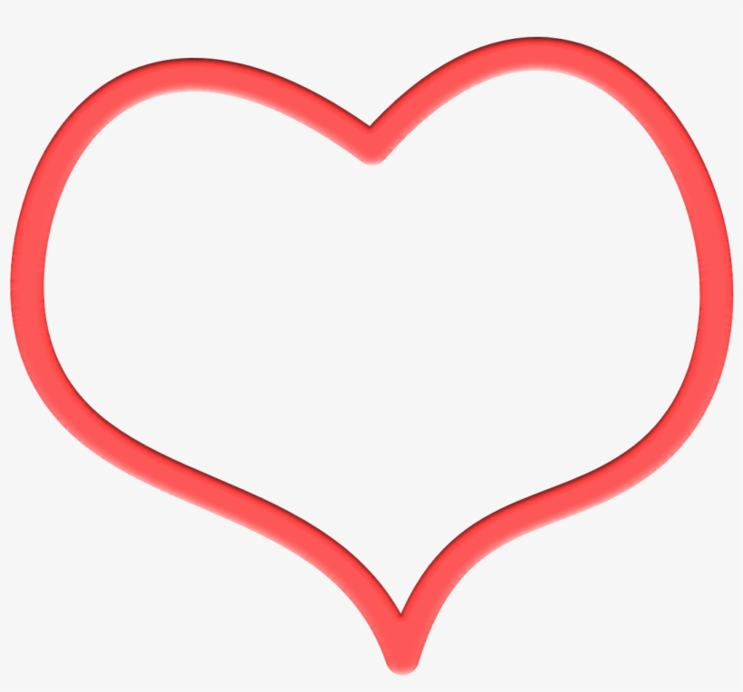 820x764 Heart Outline Red Drawing Transparent Png
