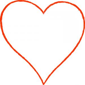 300x300 Heart Outline Red Set Symbol Friendship Intimacy Valentines Day
