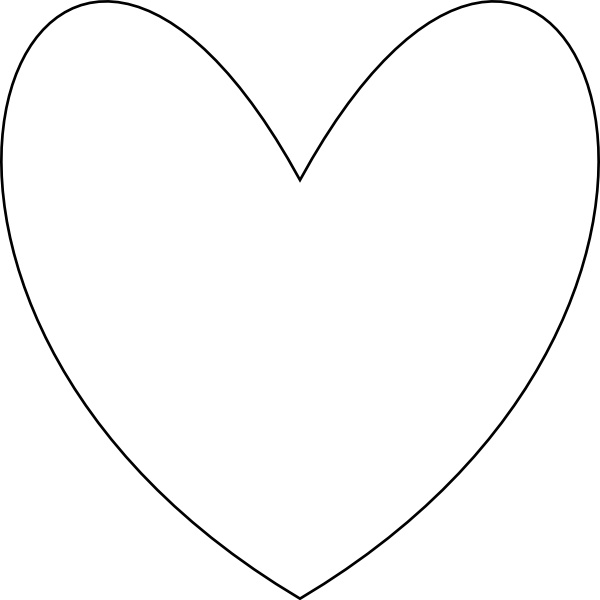 600x600 Heart Outline Clip Art Free Vector In Open Office Drawing