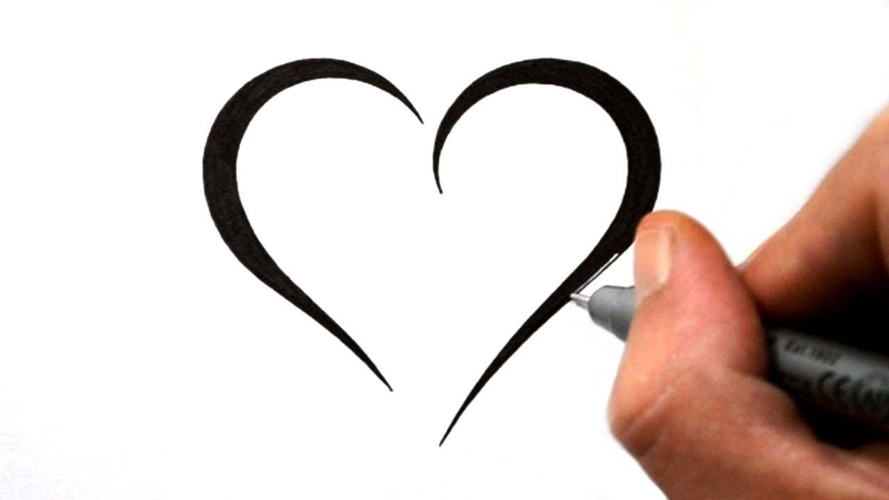 1280x720 How To Draw A Simple Tribal Heart