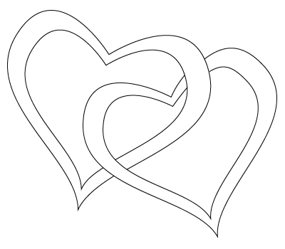 400x350 Huge Collection Of 'love Heart Line Drawing' Download More Than