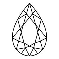 200x200 pear diamond cut diamond drawing, pear diamond