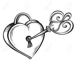 241x209 lock and key drawing sketch heart lock and key tattoo drawings