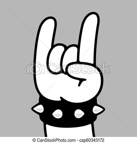 450x470 cartoon heavy metal hand heavy metal hand gesture in cartoon