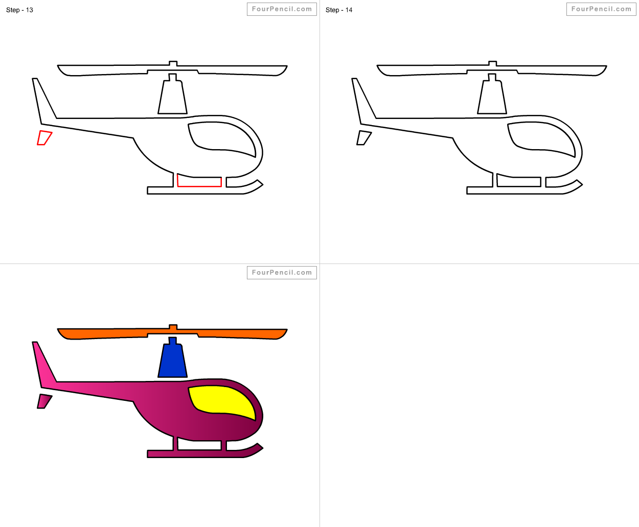 1250x1032 Fpencil How To Draw Helicopter For Kids Step