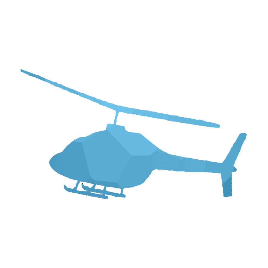 900x900 Helicopter, Drawing, Blue, Transparent Png Image Clipart Free