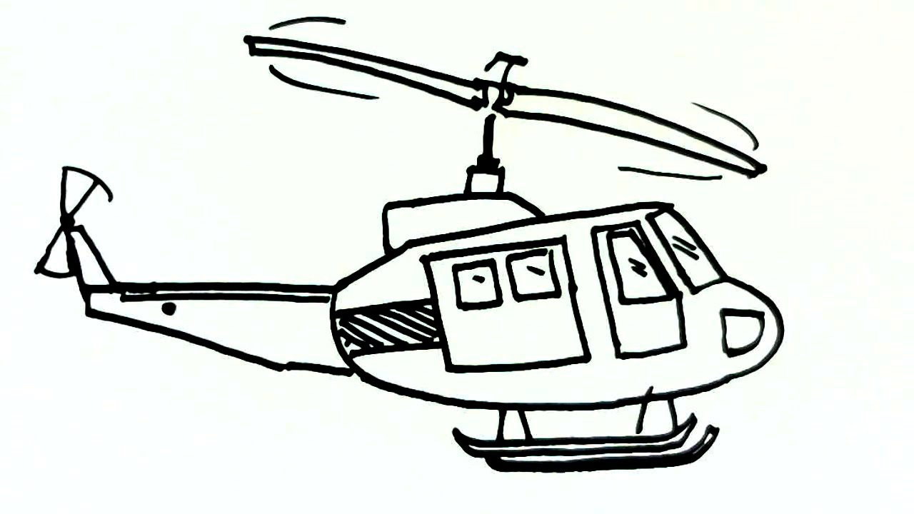 1280x720 helicopter drawing for kid and helicopter drawing easy helicopter