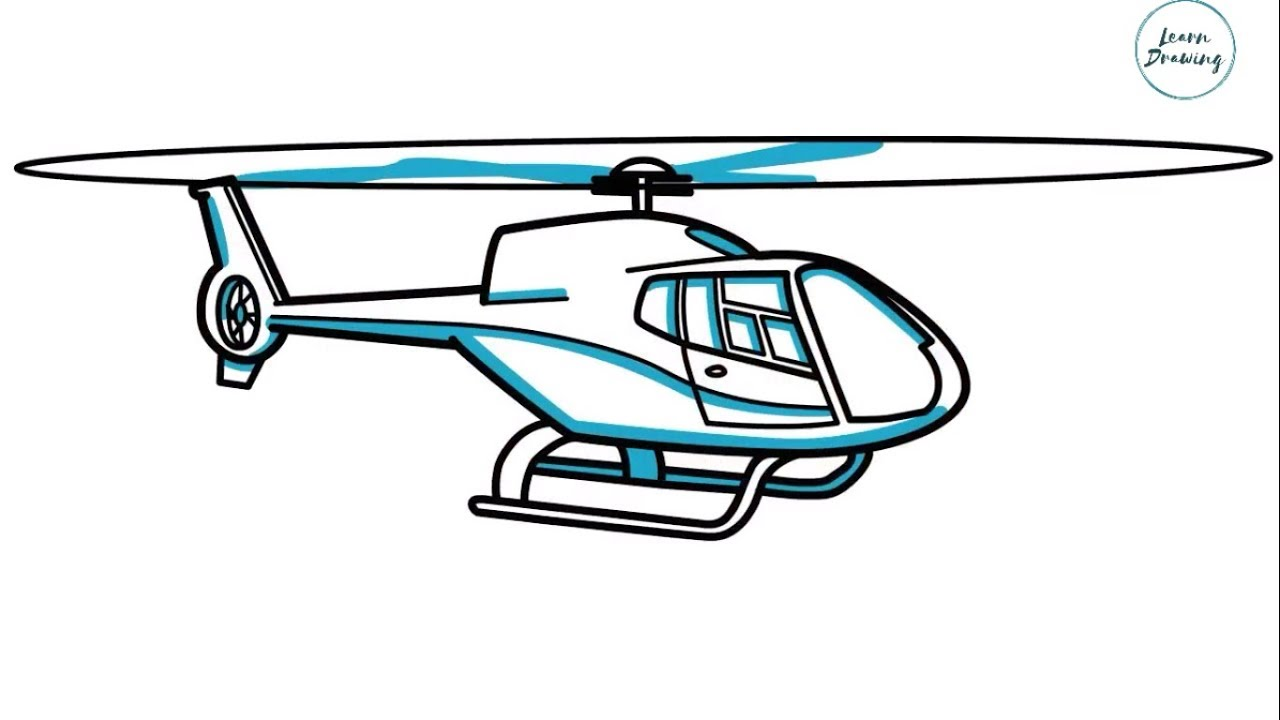 1280x720 How To Draw A Helicopter Step