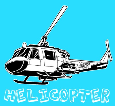 400x370 How To Draw A Helicopter With Easy Step