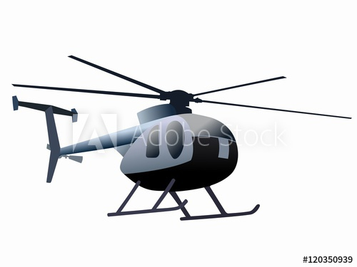 500x375 Silhouette Of Helicopter Vector Drawing