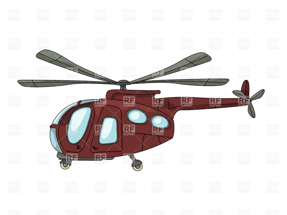 1200x900 Cartoon Drawing Of Brown Helicopter Vector Image Of Transportation