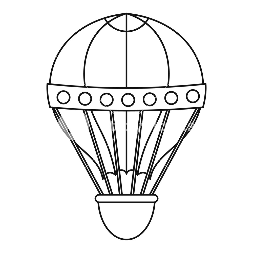 1000x1000 old fashioned helium balloon icon outline illustration of old