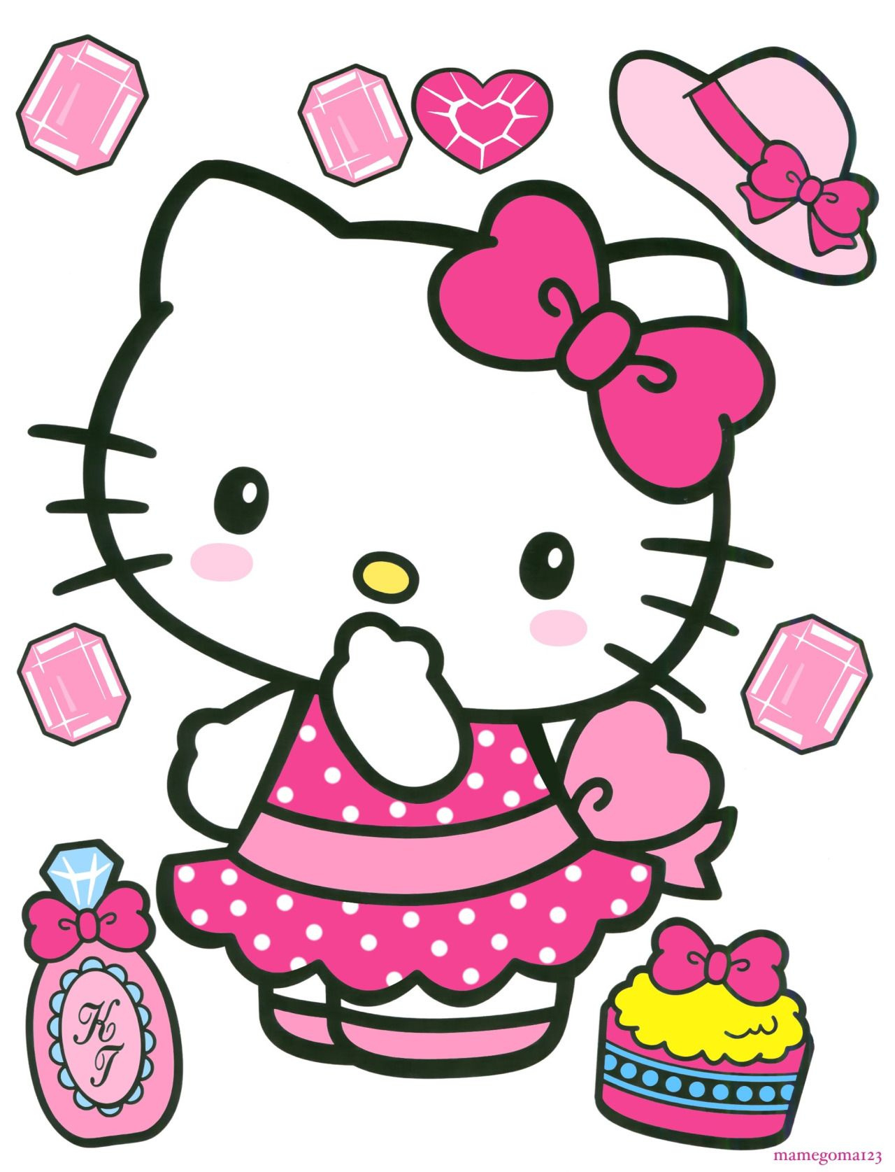 Hello Kitty Cartoon Drawing