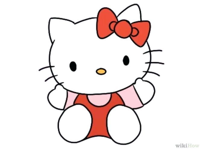 4f169f81b ... Draw Hello Kitty. 670x503 Simple Cat Face Drawing Cartoon Cat Face Easy Kitty  Face Drawing
