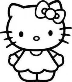 237x270 hello kitty black and white cute hello kitty hello kitty