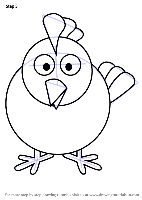 602x848 Learn How To Draw Hen For Kids