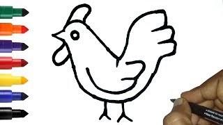 320x180 Drawing Cartoon Hen