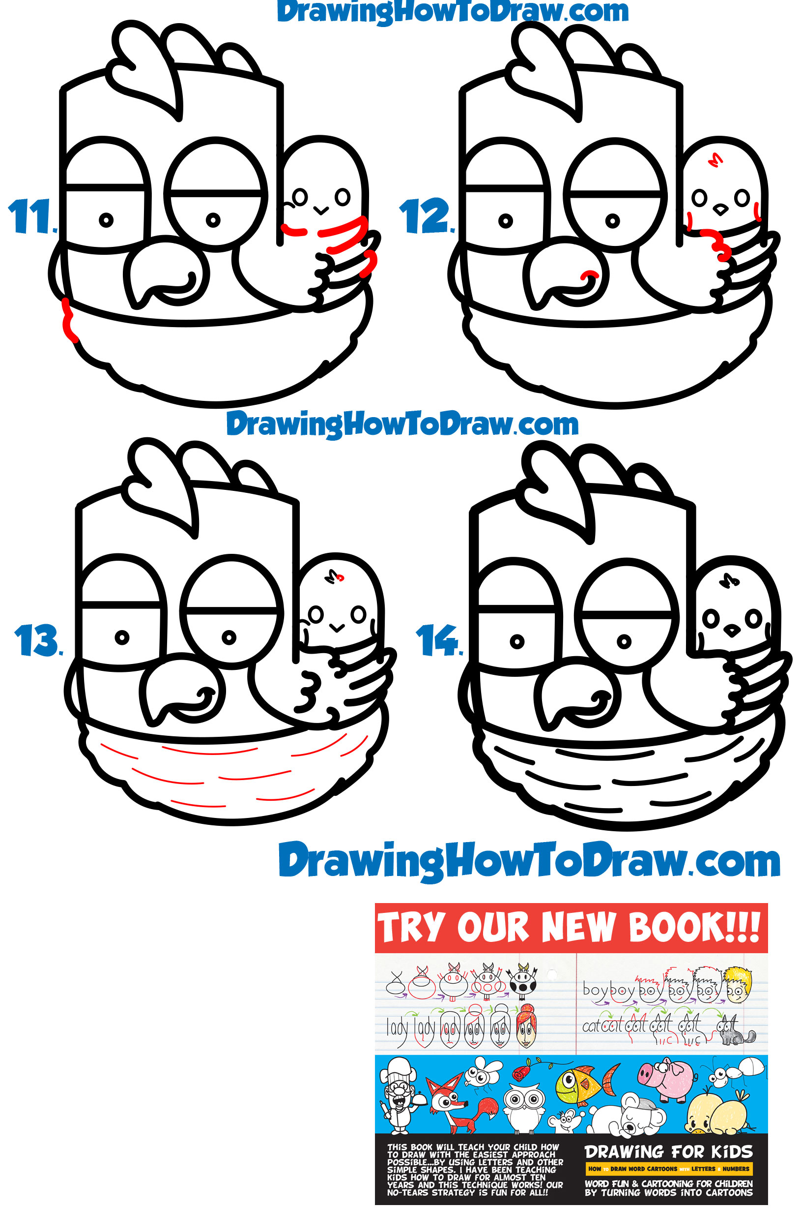 1630x2458 how to draw a cartoon hen chicken from the word hen word toon
