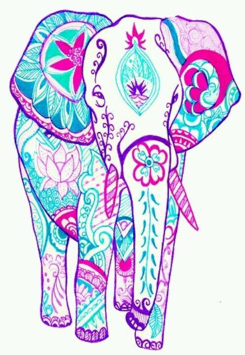 497x720 Doodle Elephant Ideas Doodles, Zen Tangles