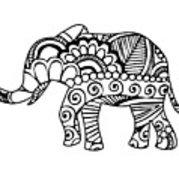 179x180 Henna Elephant Poster
