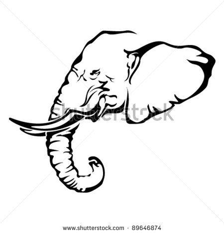 450x470 African Elephant Tattoo
